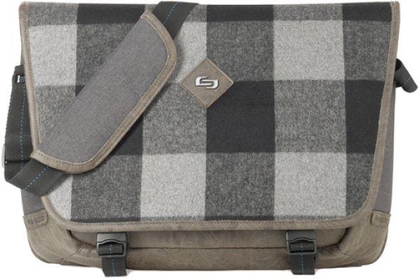 Large image of Solo Grey Urban Collenction Explorer Messenger Bag - UBN530-10