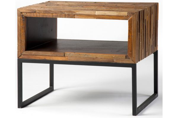Large image of Four Hands Bina Re-Cycle Collection Vince Side Table - UBNA-ST4781