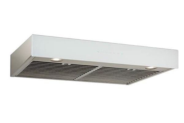 """Large image of Best Ispira 30"""" Stainless Steel With White Glass Under-Cabinet Range Hood - UCB3I30SBW"""