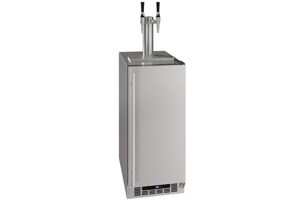 "Large image of U-Line 15"" Stainless Steel Nitro Infused Cold Coffee Dispenser - UHDE215-SS03A"