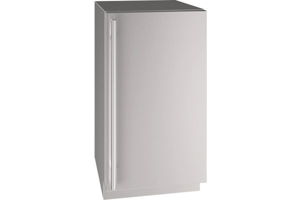 """Large image of U-Line 18"""" Stainless Steel Solid Refrigerator - UHRE518-SS01A"""