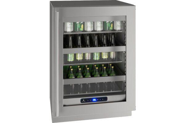 "U-Line 24"" Stainless Frame Undercounter Refrigerator - UHRE524-SG01A"