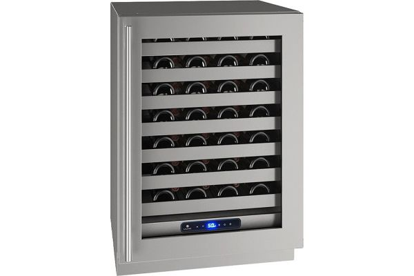 """Large image of U-Line 24"""" Stainless Frame With Lock Right-Hinge Wine Refrigerator - UHWC524-SG41A"""
