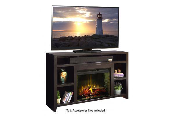"Large image of Legends Furniture 62"" Urban Loft Mocha Fireplace Console - UL5101-MOC-FIRE"