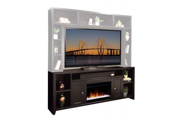 "Large image of Legends Furniture 85"" Urban Loft Mocha Fireplace Console - UL5284-MOC-FIRE"