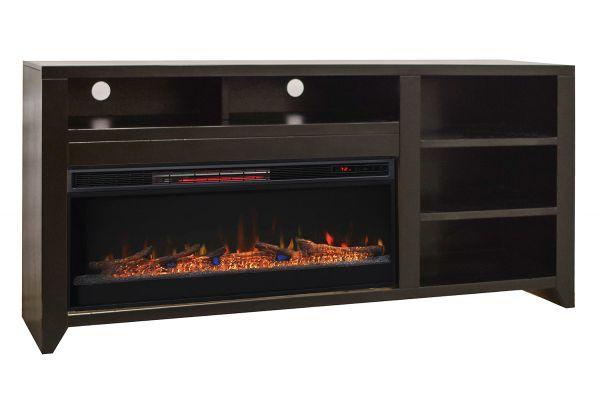 "Large image of Legends Furniture 72"" Urban Loft Mocha Fireplace Console - UL5401-MOC-FIRE"