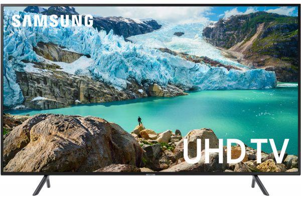 "Large image of Samsung 50"" RU7100 Charcoal Black LED 4K UHD Smart HDTV - UN50RU7100FXZA"