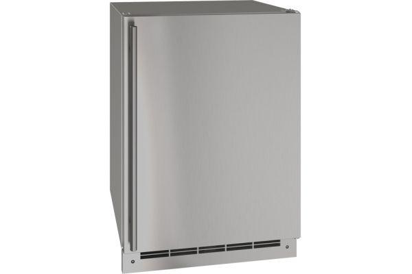 "U-Line 24"" Stainless Steel Outdoor Convertible Freezer - UOFZ124-SS01A"
