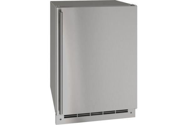 """Large image of U-Line 24"""" Stainless Steel Outdoor Convertible Freezer - UOFZ124-SS01A"""