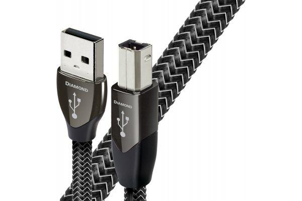 Large image of AudioQuest 4.9 Feet Diamond USB A To B Digital Internonnect Cable - USBDIAMONDA2B1POINT5M