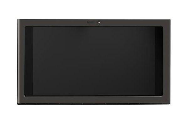"Large image of GE 30"" Black Stainless Under Cabinet Hood & Kitchen Hub - UVH13013MTS"