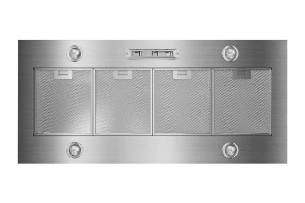 "Large image of Whirlpool 48"" Stainless Steel Custom Hood Liner - UVL6048JSS"