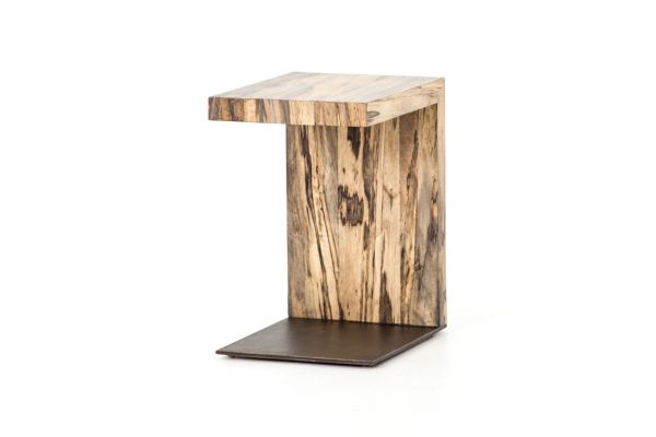 Large image of Four Hands Wesson Collection Spalted Primavera Hudson C Table - UWES-111