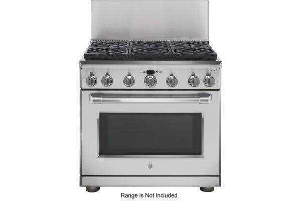"""Large image of GE 36"""" Professional 12"""" Backsplash - UX12B36PSS"""