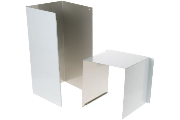 Large image of GE Stainless Steel Duct Cover Extension - UXCH2NSS