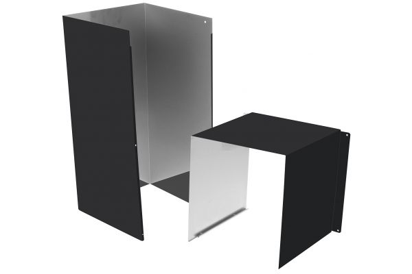 Large image of GE Matte Black Duct Cover Extension - UXCH3NDS