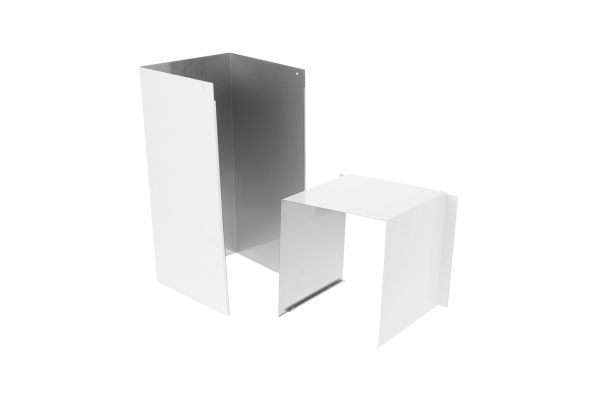 Large image of GE Matte White Duct Cover Extension - UXCH4NWM