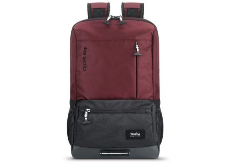 "SOLO Varsity Collection 15.6"" Burgundy Draft Backpack - VAR701-60"