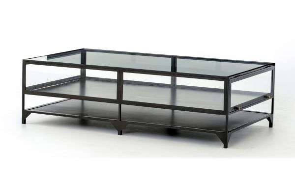 Large image of Four Hands Belmont Collection Shadow Box Coffee Table - VBEL-F038