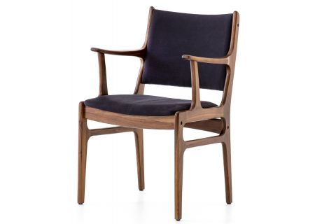 Four Hands Bina Dark Blue Canvas Arm Chair - VBNI-01N-175