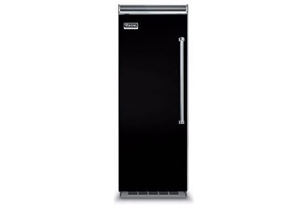 "Large image of Viking 5 Series QuietCool 30"" Black Left-Hinge Built-In All Refrigerator - VCRB5303LBK"
