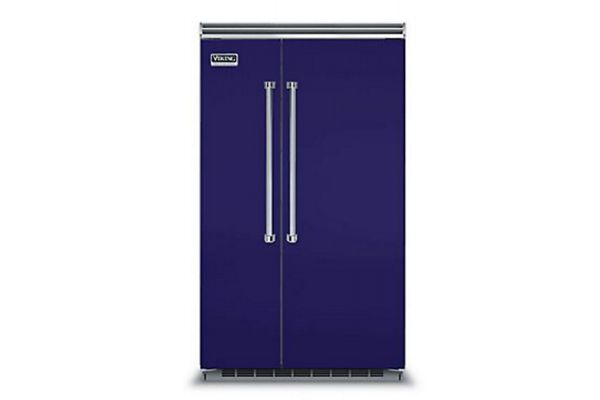 "Viking 48"" Professional 5 Series Cobalt Blue Built-In Side-By-Side Refrigerator - VCSB5483CB"