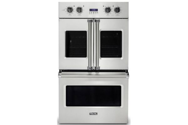 """Viking 30"""" Professional 7 Series Stainless Steel Electric Double French-Door Oven - VDOF7301SS"""