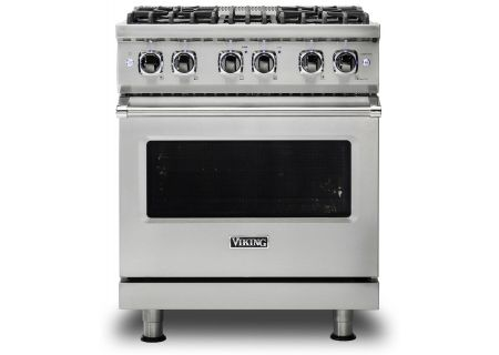 "Viking 30"" Professional 5 Series Stainless Steel Freestanding Dual Fuel Range - VDR5304BSS"