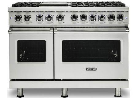 "Viking 48"" Professional 5 Series Stainless Steel Freestanding Dual Fuel Range - VDR5488BSS"