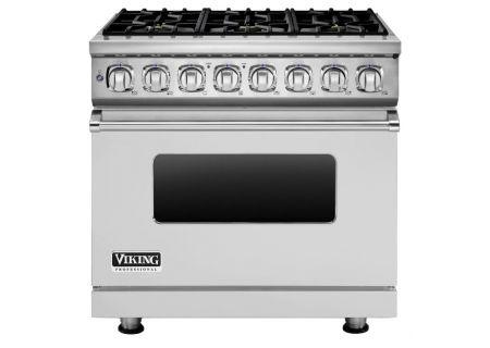 """Viking 7 Series 36"""" Stainless Steel 6 Burner Dual Fuel Range - VDR7366BSS"""