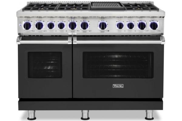 "Large image of Viking Professional 7 Series 48"" Cast Black Dual Fuel Range - VDR74826GCS"