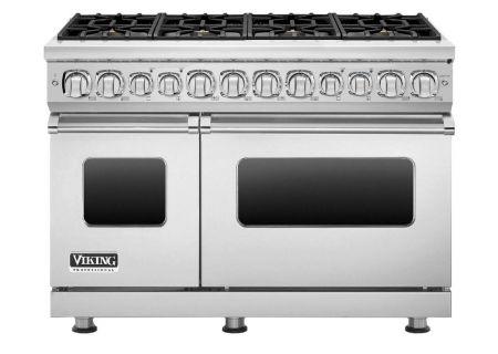 "Viking 48"" Professional 7 Series Stainless Steel 8 Burner Dual Fuel Range - VDR7488BSS"