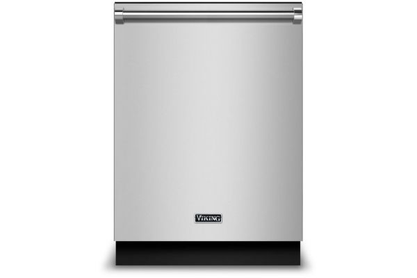 "Large image of Viking 24"" Dishwasher W/ Installed Professional Stainless Steel Panel - VDWU524SS"