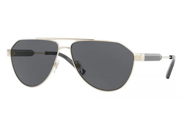 Large image of Versace Pilot Gold Mens Sunglasses - VE222310025A-62