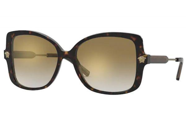 Large image of Versace Rectangle Havana Womens Sunglasses - VE4390F1086E-56