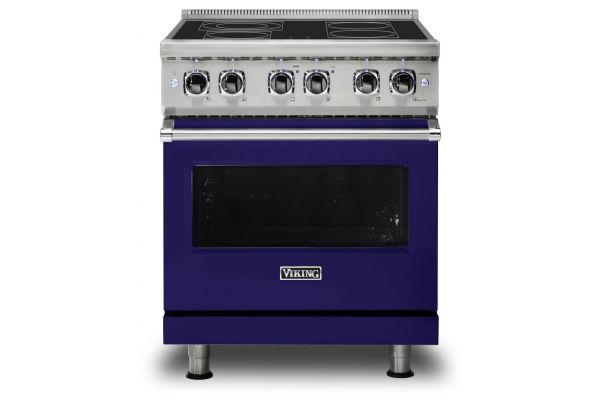 "Viking 30"" Professional 5 Series Cobalt Blue Electric Range - VER5304BCB"