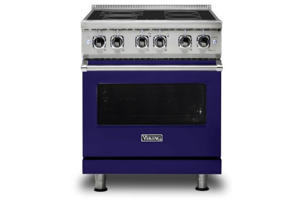 "Large image of Viking 30"" Professional 5 Series Cobalt Blue Electric Range - VER5304BCB"