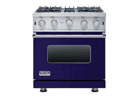 "Viking 30"" Professional 5 Series Cobalt Blue Open Burner Gas Range - VGIC53014BCB"
