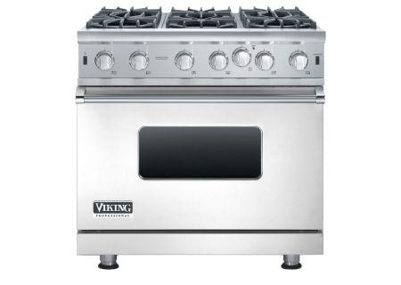 "Viking 36"" Professional 5 Series Stainless Steel Open Burner Gas Range - VGIC53616B"