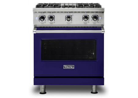 "Viking 30"" Professional 5 Series Cobalt Blue Gas Range - VGR5304BCB"