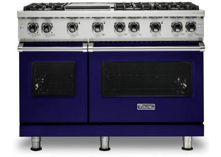 "Viking 48"" Professional 5-Series Cobalt Blue Liquid Propane Gas Range - VGR5486GCBLP"