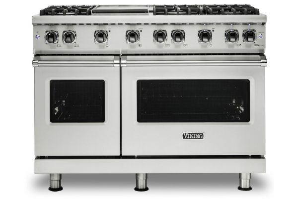 "Large image of Viking 48"" Professional 5-Series Stainless Steel Gas Range - VGR5486GSS"