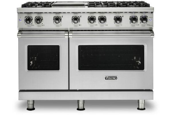 "Large image of Viking Professional 5 Series 48"" Stainless Steel Liquid Propane Gas Range - VGR5486GSSLP"
