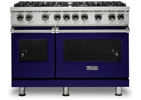 "Viking 48"" Professional 5 Series Cobalt Blue Natural Gas Range - VGR5488BCB"