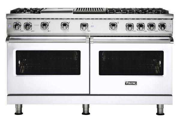 """Large image of Viking 60"""" Professional 5 Series White Gas Range - VGR5606GQWH"""