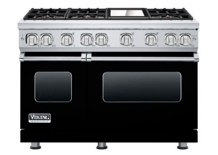"Viking Professional 7 Series 48"" Black Freestanding Gas Range - VGR7486GBK"