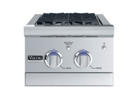 "Viking 15"" Stainless Steel Propane Gas Double Side Burner - VGSB5153LSS"