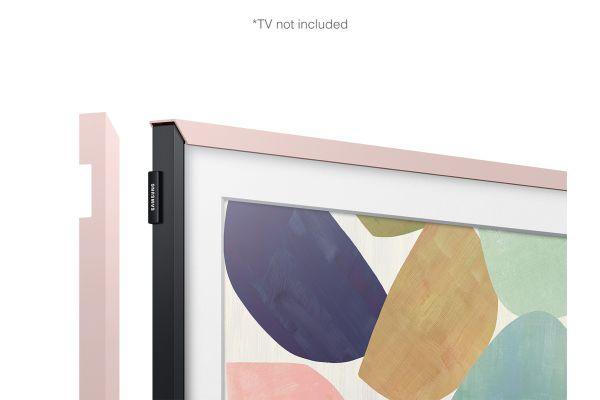 """Large image of Samsung (2020) 32"""" The Frame Customizable Bezel In Natural Pink - VG-SCFT32NP/ZA"""