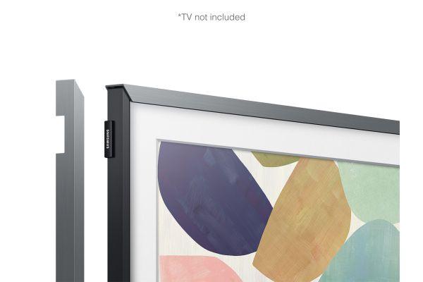 """Large image of Samsung (2020) 32"""" The Frame Customizable Bezel In Platinum - VG-SCFT32ST/ZA"""