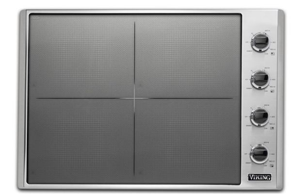 "Large image of Viking 30"" Professional 5 Series Stainless Steel All-Induction Cooktop - VICU53014BST"